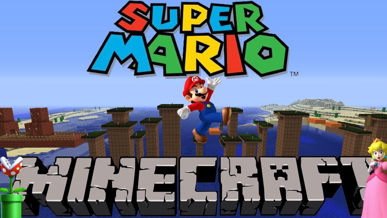 Super Mario Bros World Mapa Super Mario Bros en Minecraft