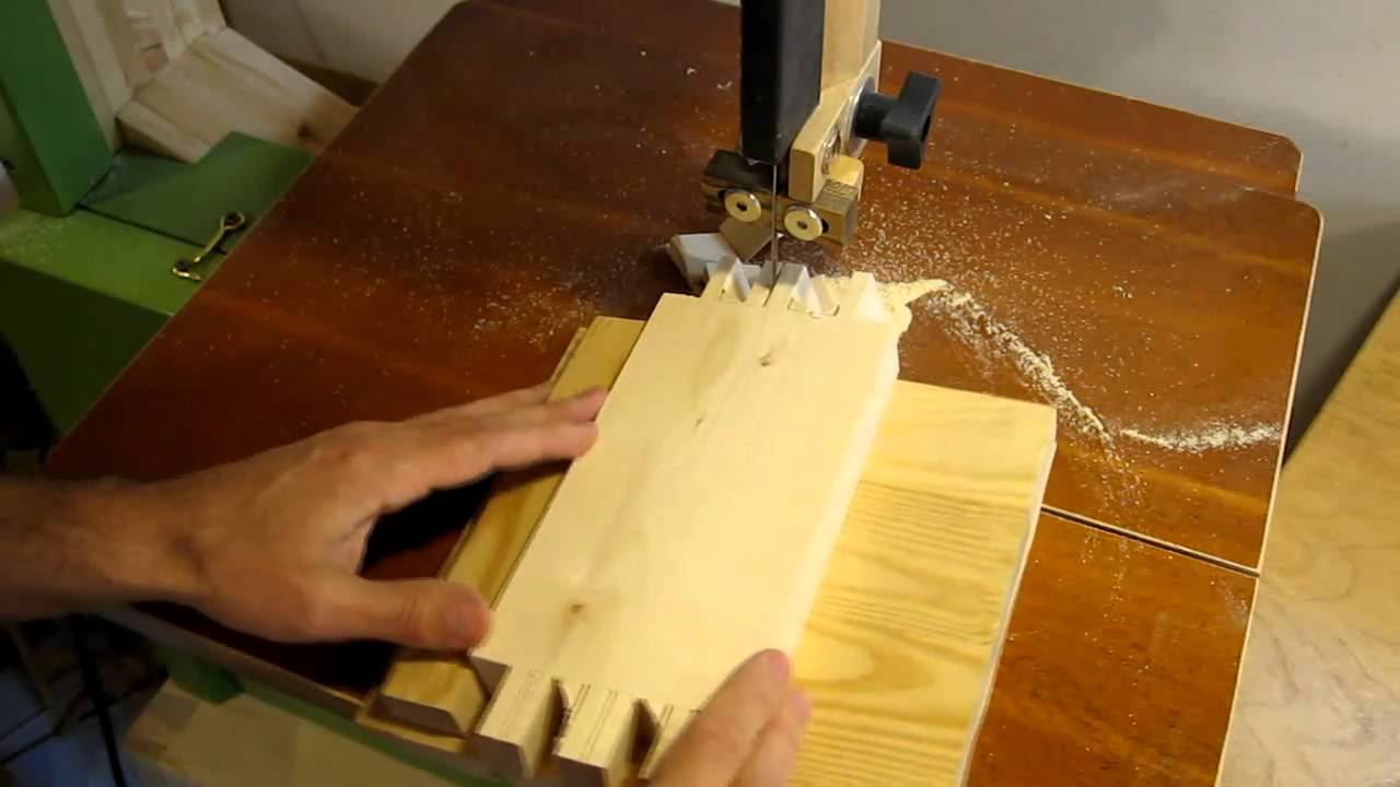 Band Saw Dovetail Jig