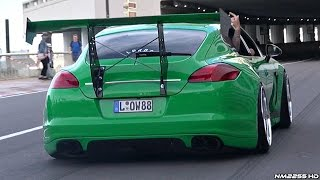 The Craziest Porsche Panamera EVER!! - LOUD, Slammed, Huge Wing & More!