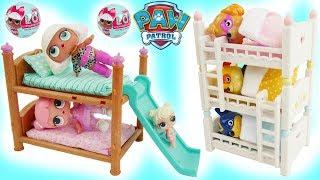 LOL Surprise Doll Bunk Beds House, Paw Patrol Baby Skye TOY Bedrooms Dolls Vampirina