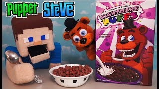 Five Nights at Freddy's Cereal NIGHTMARE PUFFS FnaF Freddy Plush FYE Exclusive Funko Unboxing Review