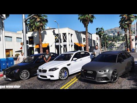 GTA 5 MOD   LUXURY CARS!   BMW M5 f10 vs E63 AMG vs Audi RS6 C7   2016   ENB PC - 60 FPS