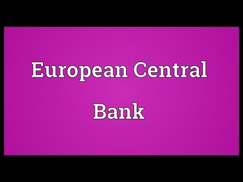 European Central Bank Meaning