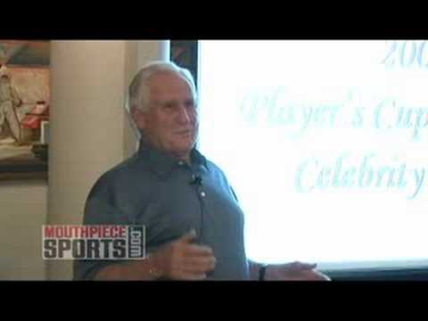 Dolphin's Coach Don Shula Jokes with the his Undefeated Team from 1972