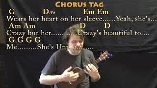 Beautiful Crazy (Luke Combs) Ukulele Cover Lesson with Chords/Lyrics - Capo 4th