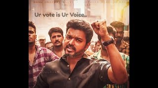# Thalapathy vijay  ~ Oruviral Puratchi Video song..👆   Vote Awareness   your vote is your voice