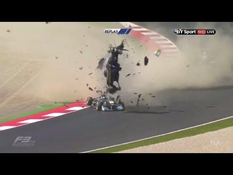 FIA F3 European Championship 2016. Race 1 Spielberg. Zhi Cong Li Horror Crash