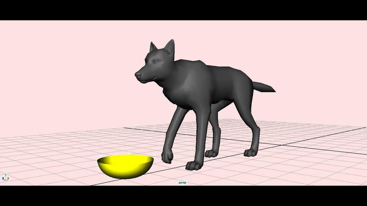 Walking dog animation