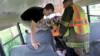360 video: Northeastern School District bus accident drill