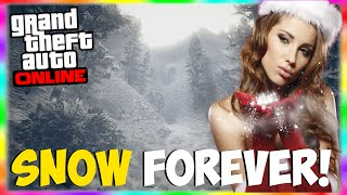 """GTA 5 Online: SNOW IN GAME FOREVER?! Snow During Entire Year in GTA 5 Online! """"GTA 5 Possible Snow"""""""