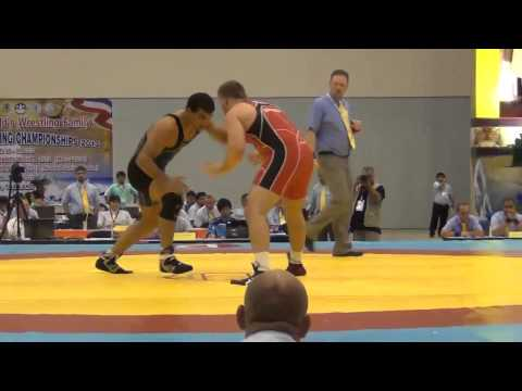 2012 Junior Worlds - 120kg - Austin Marsden (USA) vs. Abdollah Ghomi (IRI)