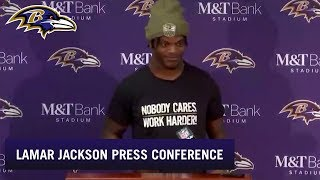 Lamar Jackson Full Press Conference After Win vs. Houston | Baltimore Ravens