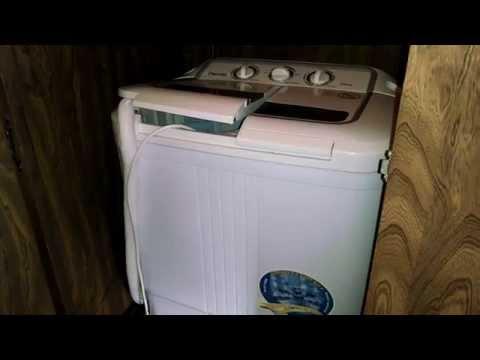 Installing XPB36 Panda Portable Compact Washing machine in my RV PART 1
