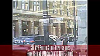 CTA #26 South Shore Express bus from Chicago/Michigan to 106th/Ewing (02-13-16)