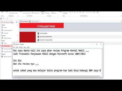 Review Aplikasi Rental Mobil dengan Microsoft Acces 2013