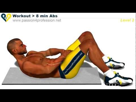 8 Min Abs Workout - Level 2 (ThePro9411)