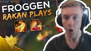 Froggen Making PLAYS With RAKAN! - Froggen Playing New Champion Rakan Highlights & Funny Moments