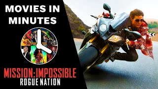 Mission: Impossible 5 - Rogue Nation in 4 minutes (Movie Recap)