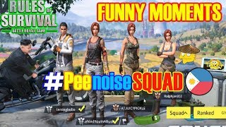 RULES OF SURVIVAL Funny Moments - Filipino (Peenoise) Squad, 3 Wins in a row, Final Melee Kill!