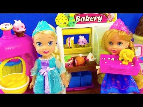 Disney Frozen Toddlers Shopkins Bakery Playset Queen Elsa Princess Anna ...