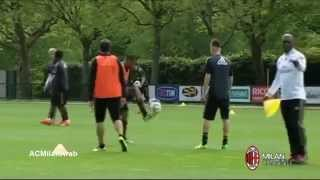 Robinho vs Stephan El Shaarawy compete in  skills competition