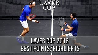 Laver Cup 2018 Best Points/Highlights (HD)