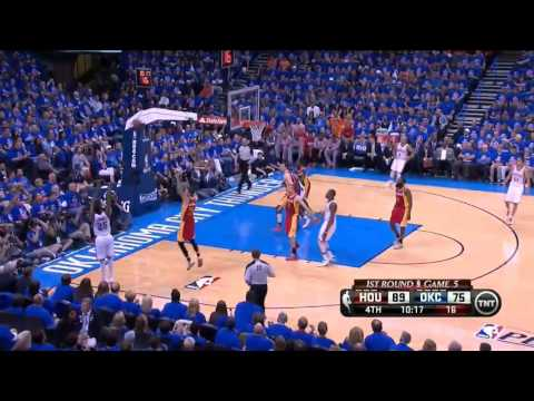 [Playoffs 2013, R1, G5] Omer Asik - 21 Points, 11 Rebounds Full Highlights vs Oklahoma City Thunder