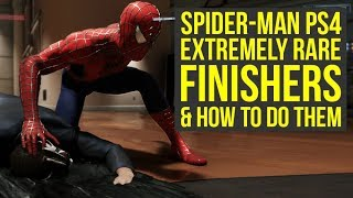 Spider Man PS4 Has Extremely RARE FINISHERS & How To Do Them! (Spiderman PS4 Secrets)