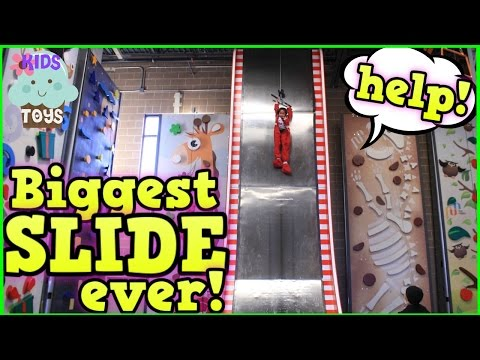 Indoor Playground Family Fun GIANT SLIDE Playground for kids  Children playing in Play Center