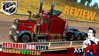 """ATS   truck mod """"PETERBILT 389 Viper 2"""" modified v2.1 (1.28) - review"""