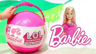 LOL Big Surprise CUSTOM Ball Barbie DIY ! Toys and Dolls Fun for Kids with Doll Accessories | SWTAD