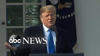 Trump declares national emergency in the Rose Garden
