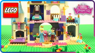 ♥ LEGO Disney Princess Cinderella & Prince Charming Romantic Castle Build & Decorating