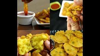 4 quick potato snacks | quick and easy aloo snacks | instant snacks recipes