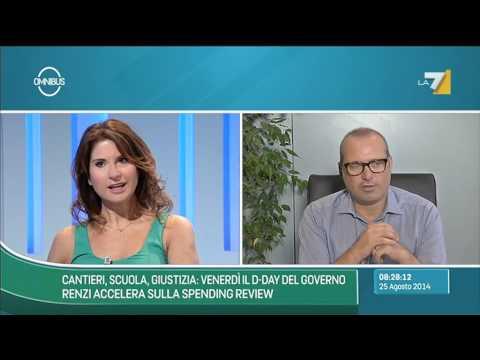Omnibus - Cantieri, scuola, giustizia: d-day del governo (Puntata 25/08/2014)