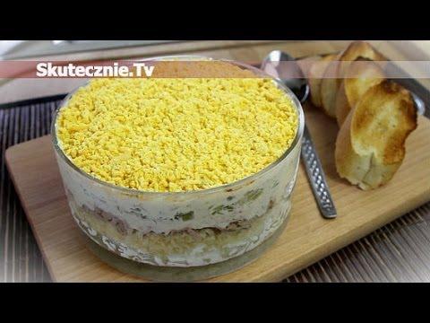 Warstwowa Salatka Z Tunczykiem I Jajkiem Skutecznie Tv Hd Youtube