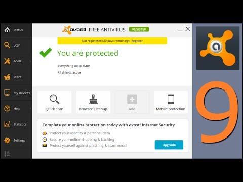 AVAST 2014 v.9 FREE Antivirus install and settings