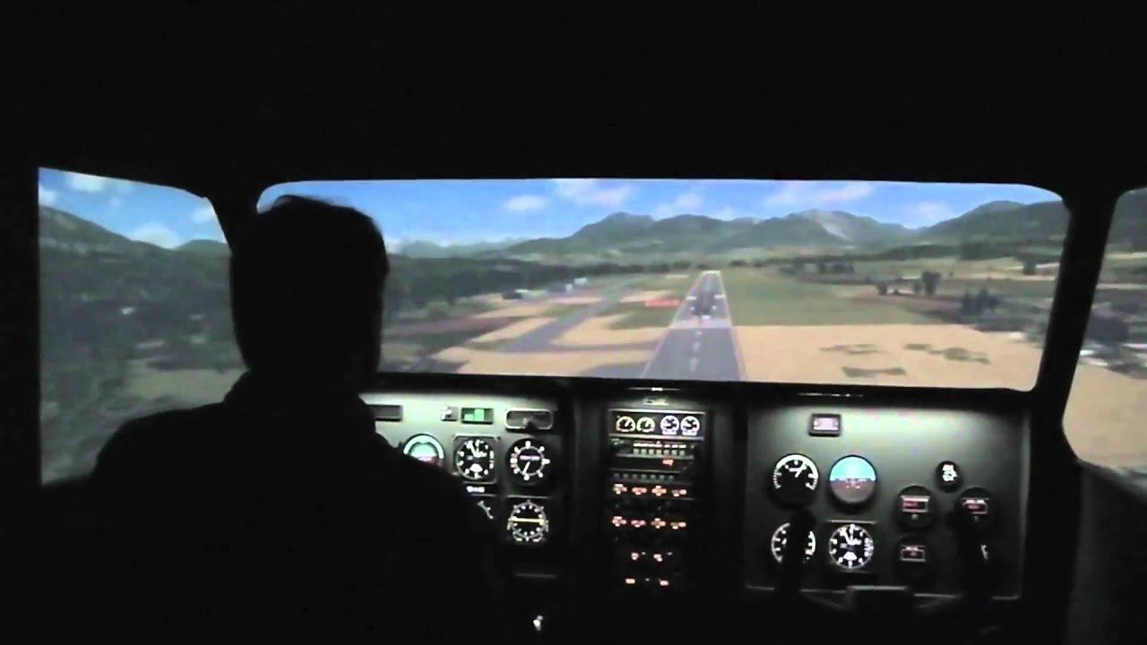 simulateur de vol panoramique enac youtube. Black Bedroom Furniture Sets. Home Design Ideas