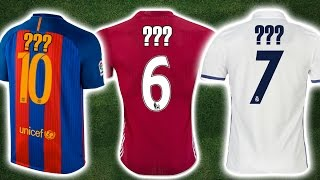 Can You Guess The Footballer From Their Shirt Number?