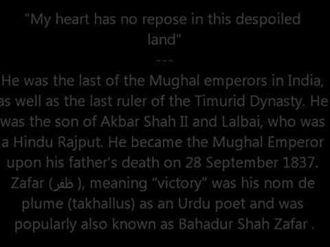 Bahadur Shah Zafar - Lagta nahi hai dil mera ghazal
