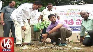 Warangal Municipal Commissioner Goutam Participates In Haritha Haram Plantation Drive