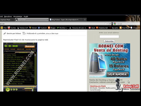Reproductor Flash Web mp3 Para Varias Listas xml