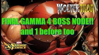 MSF - Gamma 4 Final Boss node!! + one b4 too