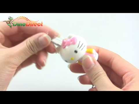 Hello Kitty Mascot Lock Padlock and Key Keyring Keychain 3 Pack - dinodirect