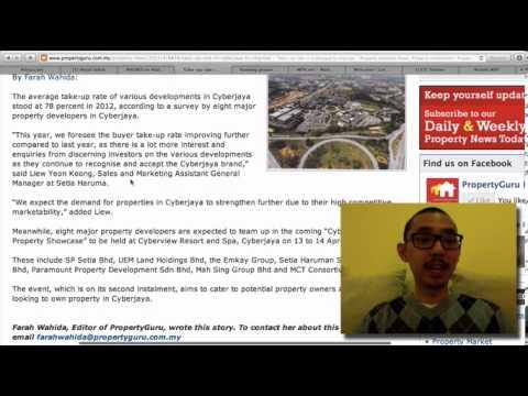 2013.04.15 Ahyat Ishak video review PropertyGuru - Cyberjaya