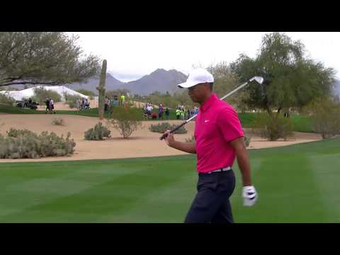 Tiger Woods' classic approach leads to eagle at Waste Management