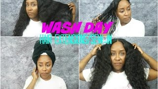 How To Wash Your Hair Extensions & Sew-In Easily | Sugar Hair