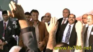 Over 3000 Pakistanis welcomed Pervez Musharraf in Manchester Jalsa UK