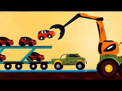 Мультики про машинки - мультфильм, как Машинка Редди спасает машинки - Погоня.