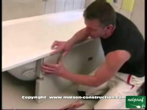 Habillage d 39 une baignoire youtube - Comment repeindre une baignoire ...